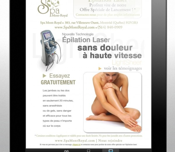 Spa Mont-Royal  Infolettre html